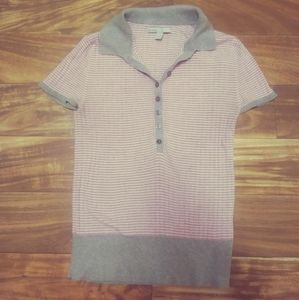 Old navy large shirt women striped grey pink